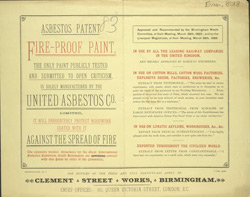Advert for the United Asbestos Company fire-proof paint